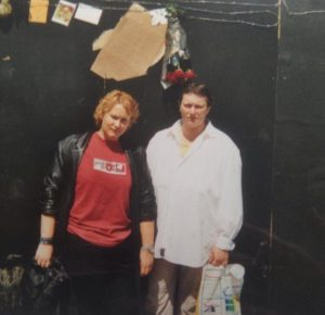 Jane and her sister, Roskilde 2000