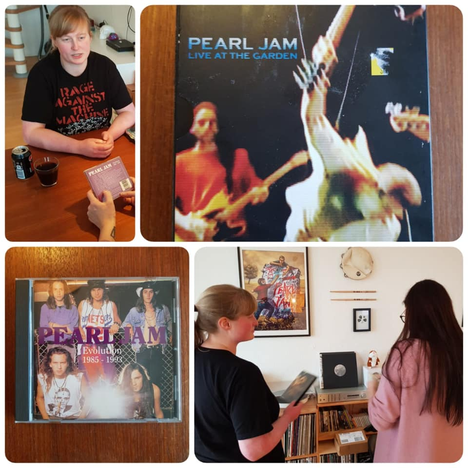 The DVD Live at the Garden and the bootleg CD Pearl Jam Evolution are among Sofie's most cherished Pearl Jam possessions.