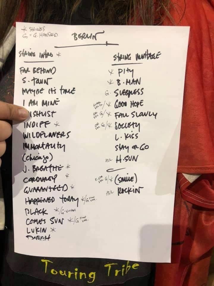 Eddie Vedder - Berlin - June 28, 2019 Setlist