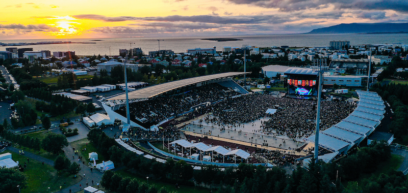 Almost 50,000 people attended the Ed Sheeran shows at the Laugardalsvöllur stadium on 10 and 11 August, 2019.